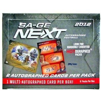 2012 Sage Next Football Hobby Box