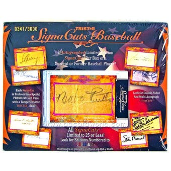 2012 TriStar SignaCuts Baseball Hobby Box