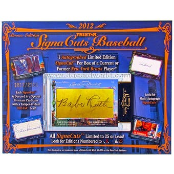 2012 TriStar SignaCuts Bronx Edition Baseball Hobby Box