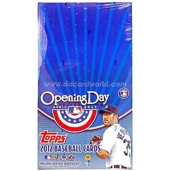 2012 Topps Opening Day Baseball Super Pack Box (24 Packs)