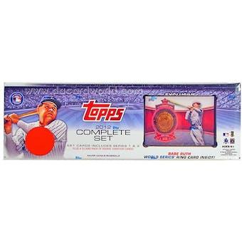 2012 Topps Factory Set Baseball Retail (Box) (Ruth Commemorative Ring Card)