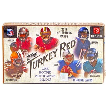 2012 Topps Turkey Red Football Box