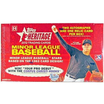 2012 Topps Heritage Minor League Baseball Hobby Box