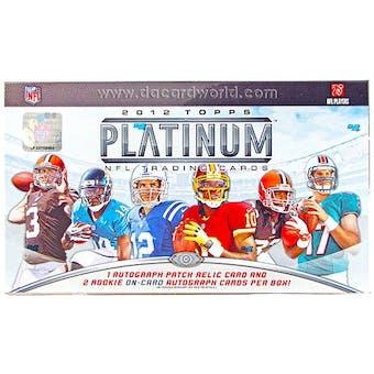 2012 Topps Platinum Football Hobby Box