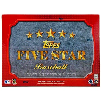 2012 Topps Five Star Baseball Hobby Box