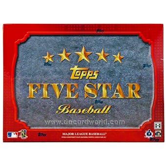2012 Topps Five Star Baseball Hobby Box