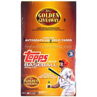 2012 Topps Series 2 Baseball Jumbo Rack Box