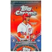 2012 Topps Chrome Baseball Hobby Box