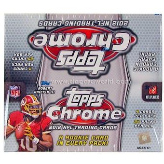 2012 Topps Chrome Football Retail 24-Pack Box - WILSON & LUCK ROOKIES!