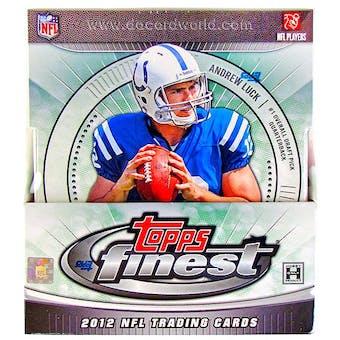 2012 Topps Finest Football Hobby Box