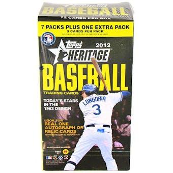 2012 Topps Heritage Baseball 8-Pack Blaster Box