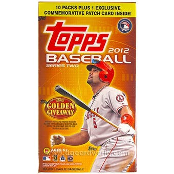 2012 Topps Series 2 Baseball 10-Pack Box (1 Patch Card Per Box!)