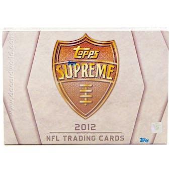 2012 Topps Supreme Football Hobby Box