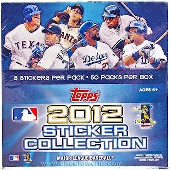 2012 Topps Baseball Hobby Sticker Box