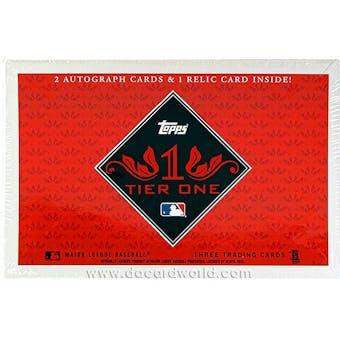 2012 Topps Tier One Baseball Hobby Box