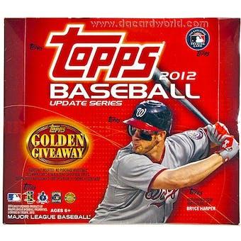 2012 Topps Update Series Baseball Jumbo Box