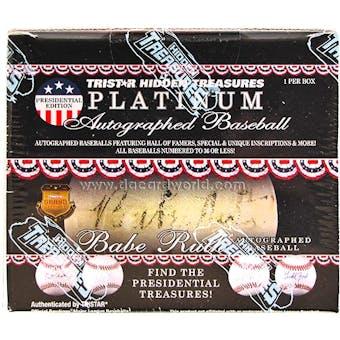 2012 TriStar Platinum Baseball Presidential Edition Hobby Box