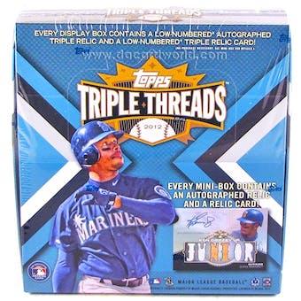 2012 Topps Triple Threads Baseball Hobby Box