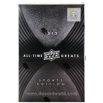 2012 Upper Deck All Time Greats Sports Edition Hobby Box - JORDAN !!!