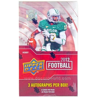 2012 Upper Deck Football Hobby Box