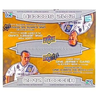 2012 Upper Deck Soccer Retail 36-Pack Box (1 Memorabilia Card Per Box)!