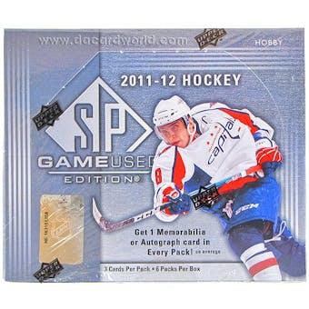 2011/12 Upper Deck SP Game Used Hockey Hobby Box