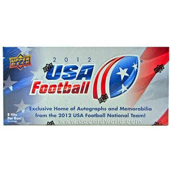 2012 Upper Deck USA Football Hobby Box