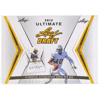 2012 Leaf Ultimate Draft Football Hobby Box