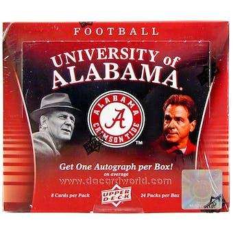 2012 Upper Deck University of Alabama Football Hobby Box