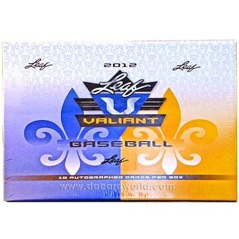 2012 Leaf Valiant Draft Baseball Hobby Box