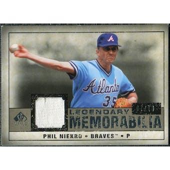 2008 Upper Deck SP Legendary Cuts Legendary Memorabilia Taupe #PN Phil Niekro /10