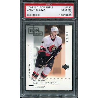 2002/03 Upper Deck Top Shelf #133 Jason Spezza /499 RC PSA 10 Gem Mint
