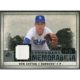 2008 Upper Deck SP Legendary Cuts Legendary Memorabilia Gray #DS Don Sutton /15