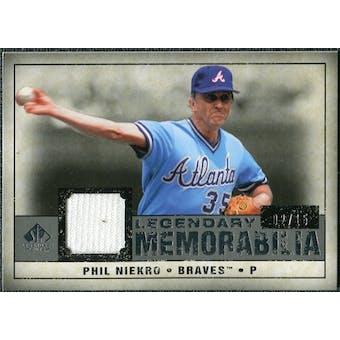 2008 Upper Deck SP Legendary Cuts Legendary Memorabilia Gray #PN Phil Niekro /15