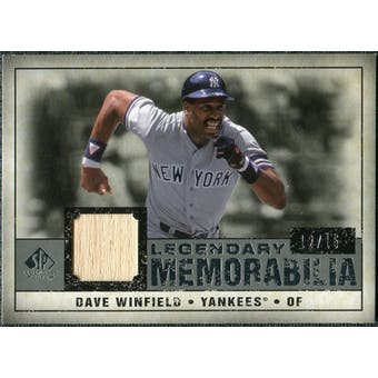 2008 Upper Deck SP Legendary Cuts Legendary Memorabilia Gray #DW Dave Winfield /15