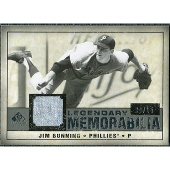 2008 Upper Deck SP Legendary Cuts Legendary Memorabilia Gray #JB Jim Bunning /15