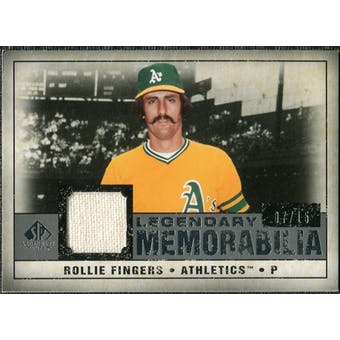 2008 Upper Deck SP Legendary Cuts Legendary Memorabilia Gray #RF Rollie Fingers /15