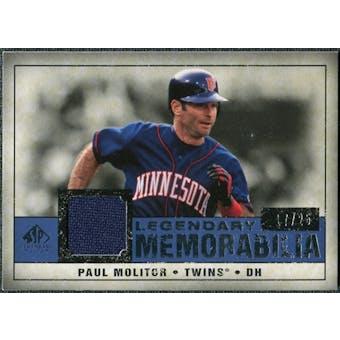 2008 Upper Deck SP Legendary Cuts Legendary Memorabilia Dark Blue #PM2 Paul Molitor /25