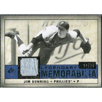 2008 Upper Deck SP Legendary Cuts Legendary Memorabilia Dark Blue #JB Jim Bunning /25