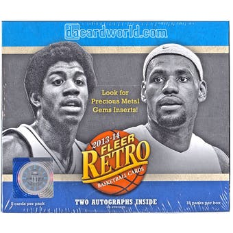 2013/14 Upper Deck Fleer Retro Basketball Hobby Box