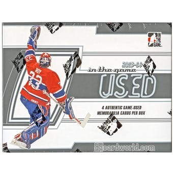 2013-14 In The Game Used Hockey Hobby Box