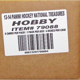 2013-14 Panini National Treasures Hockey Hobby 4-Box Case