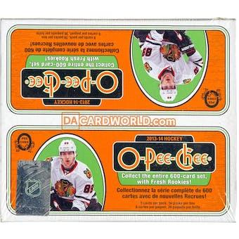 2013-14 Upper Deck O-Pee-Chee Hockey 36 Pack Box