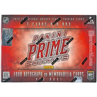 2013-14 Panini Prime Hockey Hobby Box