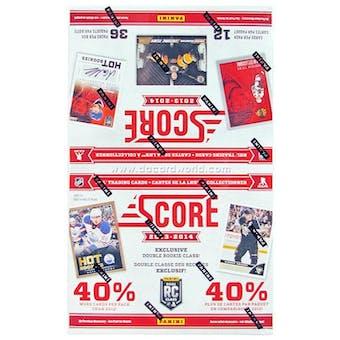 2013-14 Score Hockey 36-Pack Box (One Autograph Per Box)!