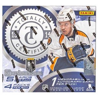 2013-14 Panini Totally Certified Hockey Hobby Box