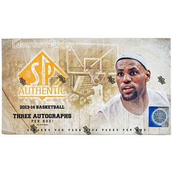 2013/14 Upper Deck SP Authentic Basketball Hobby Box