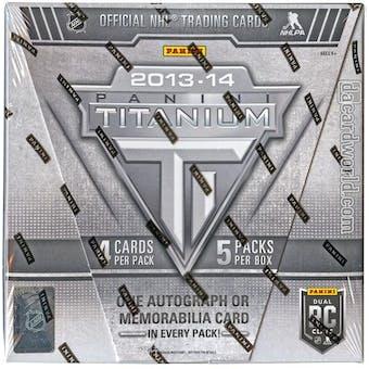 2013-14 Panini Titanium Hockey Hobby Box (Reed Buy)