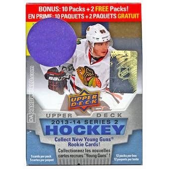 2013-14 Upper Deck Series 2 Hockey 12-Pack Box