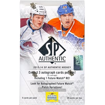 2013-14 Upper Deck SP Authentic Hockey Hobby Box